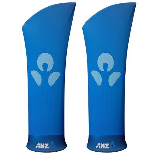 Custom branded Fin Stretch Fabric Tower
