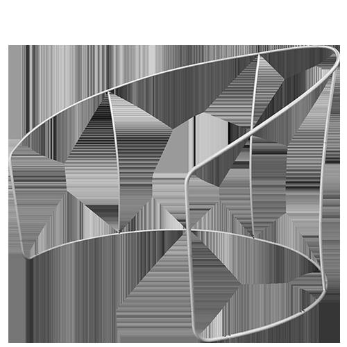Semi Circular Display Stand frame