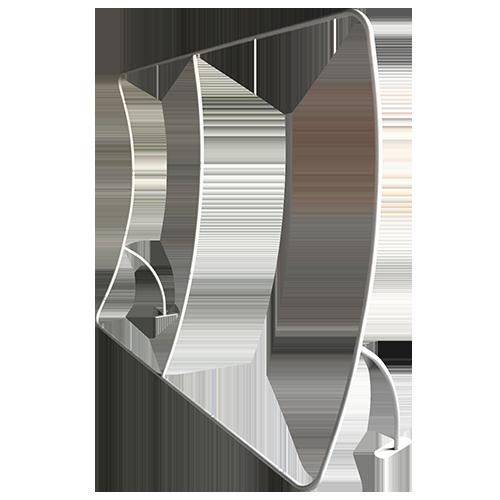 U Shaped Media Wall aluminium frame