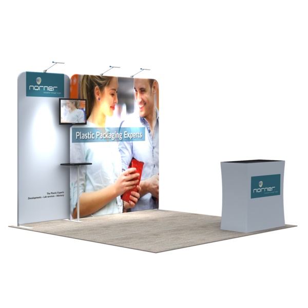 3X3M Tradeshow Booth - Style 14
