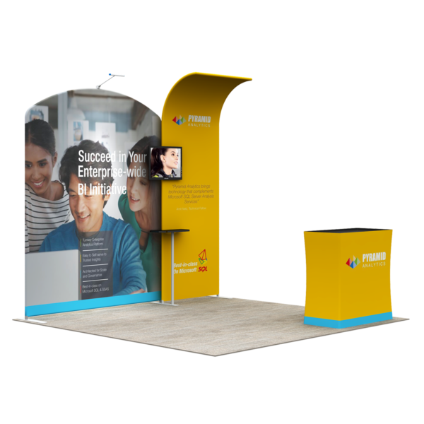 3X3M Tradeshow Booth - Style 15