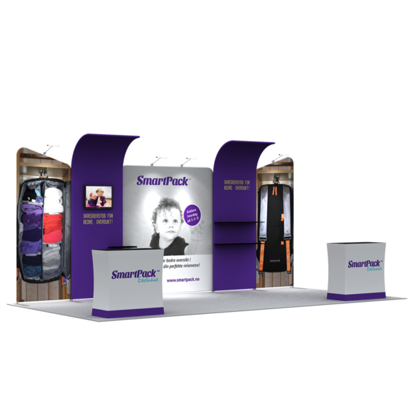 3X6M Tradeshow Booth - Style 17