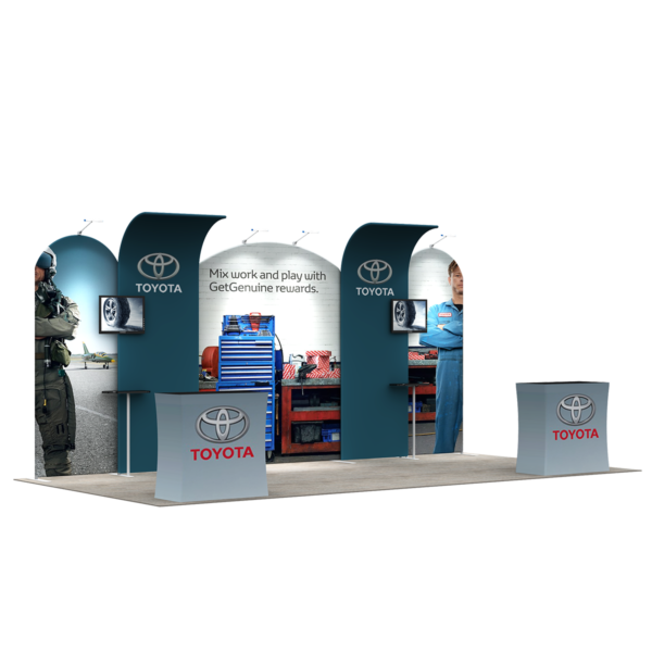 3X6M Tradeshow Booth - Style 22