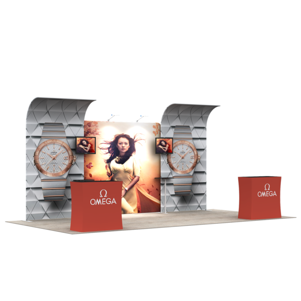 3X6M Tradeshow Booth - Style 27