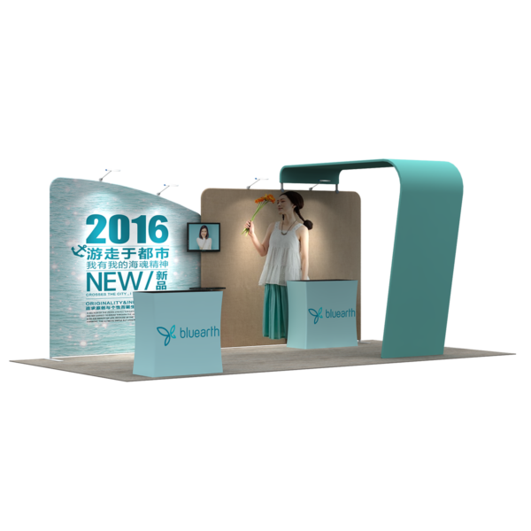 3X6M Tradeshow Booth - Style 34